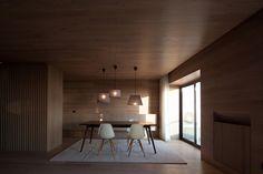 Pitagoras Group Designs a Contemporary Apartment at Póvoa do Varzim, Portugal Contemporary Apartment, Beautiful Interior Design, Decoration, Interior Architecture, Inspiration, House Design, Living Room, Wood, Table