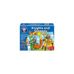 A fun twist on a classic game of heads and tails Encourages matching and memory and colour recognition skills Designed for players Orchard Toys, Dragon Games, Matching Games, Knights, Dragons, Fun, Kites, Lol, Funny