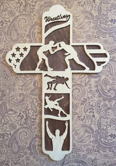 Wrestling Cross Gift for Wrestler Athlete by BriarBeachDesigns