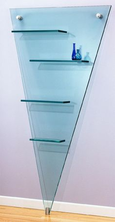 Artful And Creative Desig Glass Wall Shelf With V Shape Some Great Floating Glass Shelves Home decoration
