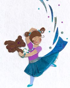 Happy Friday, everyone! Hard to believe it's time for #scbwidrawthis deadlines already this month. February is just flying by! This little dancer doesn't worry about the calendar, though - she's too busy dancing with her teddy bear! #kidlitart #scbwi #cutpaper #dance
