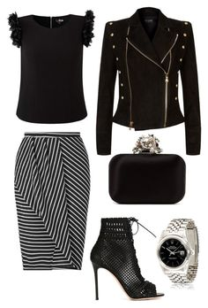 """""""Untitled #356"""" by rubysparks90 on Polyvore featuring Gianvito Rossi, Miss Selfridge, Balmain and Jimmy Choo"""