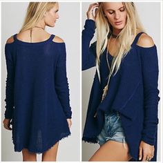 Spotted while shopping on Poshmark: Free People Cold Shoulder Sweater Cape Wrap! #poshmark #fashion #shopping #style #Free People #Sweaters