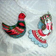 Vintage Handmade Christmas Tree Ornament Set  by AuntAmandasAttic, $12.00 http://AuntAmandasAttic.etsy.com
