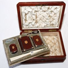Antique French Jewelry Box with Ivory Fan, Tortoise Shell Prayer Box, Coin Purse, Necessaire, Carnet du Bal - BIG Matching Set!