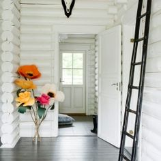 15 DIY's and ideas that can make an entrance hall fun and unique. (DIY via Design Sponge) #craftgawker