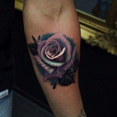 Gorgeous purple and teal rose