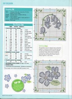 CS Card Shop 71 - - - Gallery.ru / Фото #22 - WhiteAngel - - - blue flowers, robots, floral crosses