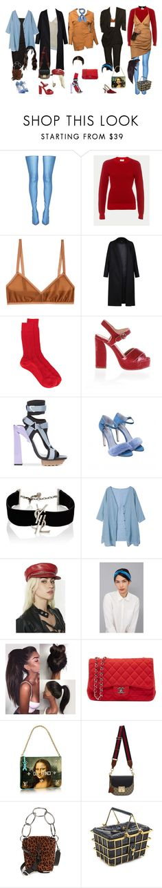 """""""Jacquemus fashion show"""" by a-never-want-to-grewer99 ❤ liked on Polyvore featuring Balenciaga, Frame, Land of Women, Jacquemus, Non, N°21, Tory Burch, Versace, Blood & Honey and Yves Saint Laurent"""