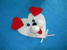 Dog Magnet...easy Valentine for kids to make.