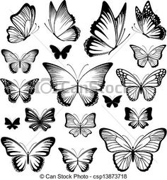 Vector - butterfly tattoo silhouettes - stock illustration, royalty free illustrations, stock clip art icon, stock clipart icons, logo, line art, EPS picture, pictures, graphic, graphics, drawing, drawings, vector image, artwork, EPS vector art