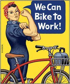 Velo Illustration 142: «We Can Bike To Work». Bike to work ist eine Aktion von Pro Velo Schweiz zur Fahrrad-Förderung. Schweizer Unternehmen motivieren ihre Mitarbeiter, den ganzen Monat Juni mit dem Velo zur Arbeit zu fahren. Bike to work wurde 2005 von der Migros mit damals 1600 Arbeitnehmern lanciert. Seit 2006 können alle Schweizer Unternehmen an Bike to work teilnehmen. 2014 wird mit 50'000 Teilnehmern gerechnet. [[MORE]]