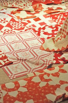 Red and white quilt show benefiting George Mark House. @Joanna Figueroa