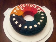 Regenboog cake