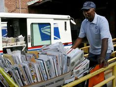 THAT'S A LOT OF MAIL TO DELIVER IN ONE DAY, BUT THAT'S WHAT HE'LL DO IT.... .I HOPE YOU'LL FOLLOW ANY OF MY 5 GREAT BOARDS CONCERNING THE POST OFFICE MAILMEN VEHICLES MAILBOXES AND OTHER THINGS