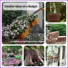 Creative gardening ideas inspire me. I love the way some people think outside the box and use their imagination to come up with garden decorations,.