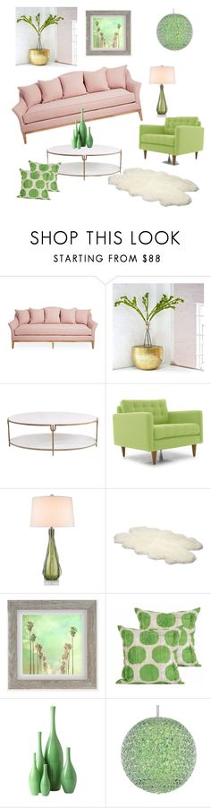 """Green & blush home"" by yasmine-elansary ❤ liked on Polyvore featuring interior, interiors, interior design, home, home decor, interior decorating, Global Views, Joybird, Zephyr and UGG Australia"