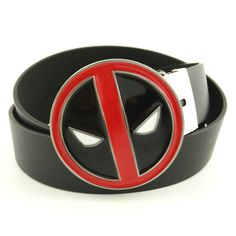 New arrival Faux Leather male belt mens big buckle belts for jeans marvel superhero deadpool belt buckle metal Men's Accessories