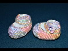 ▶ How to Knit Basic Mary Jane Baby Booties Part 2 (Left Bootie) - YouTube