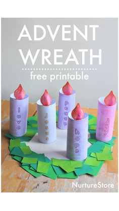 Christmas Activities For Kids, Preschool Christmas, Preschool Crafts, Kids Christmas, Fun Crafts, Ccd Activities, Christmas Paper, Advent Wreath Candles, Advent Candle Colors