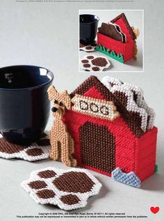 Doggie Paw Coasters Pg 1/3