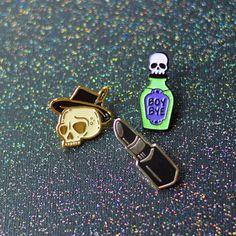 Witchy Pin Bundle Halloween Pins Enamel Pins by TeesAndTankYouShop