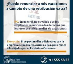 #CONSULTAS ¿Puedo renunciar a mis vacaciones a cambio de una retribución extra?…