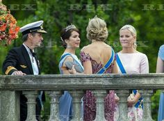 The wedding of Prince Carl Philip and Sofia Hellqvist, Royal Palace, Stockholm, Sweden - 13 Jun 2015 Crown Prince Frederik, Crown Princess Mary, Queen Maxima and Crown Princess Mette-Marit 13 Jun 2015
