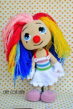 Cafe Con Lana: Pasasita amigurumi Disney Crochet Patterns, Crochet Doll Pattern, Crochet Patterns Amigurumi, Amigurumi Doll, Doll Patterns, Knitted Dolls, Crochet Dolls, Cute Crochet, Crochet Baby