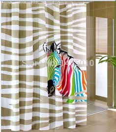 Fabric polyester multi-color zebra waterproof thicken shower curtains bathroom shower curtains bathroom storage -- AliExpress Affiliate's Pin. Clicking on the image will lead you to find similar product