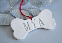 Personalized Dog Christmas Ornament with Name  Gift Boxed and