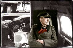 WW2 Colourised Photos General Guderian being transported to the Eastern Front, 1943 Heinz Guderian, (born June 17, 1888, Kulm, Ger.—died May 14, 1954, Schwangau bei Füssen, W.Ger.), German general and tank expert who became one of the principal architects of armoured warfare and the blitzkrieg between World Wars I and II, and who contributed decisively to Germany's victories in Poland, France, and the Soviet Union early in World War II. (Partially colourised by Doug UK)