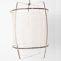 Z1 Silk-Cashmere Lamp - Bambuslampe dunkel mit Seiden-Kaschmir Bezug hell / Heimelig-Shop