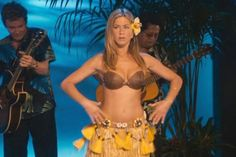 Pin for Later: The Best Bikini Moments in Movies Jennifer Aniston, Just Go With It Aniston shows off her legendary yoga-toned bod in that Hawaiian wardrobe staple, the coconut bikini.