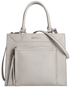 Calvin Klein Saffiano Small Tote - Calvin Klein - Handbags & Accessories - Macy's