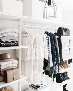 Minimalist chic simple clean closet