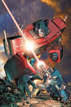 IDW Revolution #2 - Optimus Prime Takes On ROM On Brandon Peterson's Retailer Incentive Cover