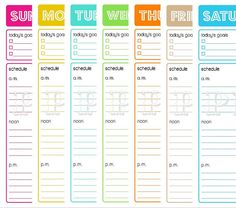 Printable Daily Planner  To Do List  Goals Schedule