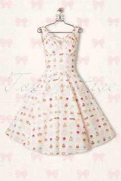 Miss Candyfloss Cake Ivory White Swing Summer Dress 102 57 14884 6 Cute Dresses, Beautiful Dresses, Vintage Dresses, Summer Dresses, 50s Style Clothing, Style Clothes, Kawaii Dress, Paris Dresses, Girl Outfits