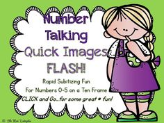 This Quick Image FLASH will help children to begin to instantly recognize numbers to five on a ten frame. This is a great routine that can be build into any program and all you have to do is just simply.click and go! Math Resources, Math Activities, Miss Kindergarten, Kindergarten Centers, Quick Image, Math Classroom, Classroom Ideas, Google Classroom, Math Blocks