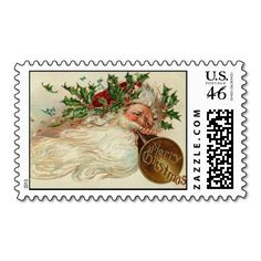 Victorian Santa Christmas Stamps