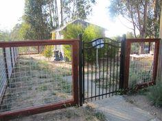 hog wire fence panels. Kinda modernizes