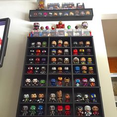 Went fishin' through some old photos for _____________________________________________ I really want to put a… Funko Pop Shelves, Funko Pop Display, Nerd Decor, Geek Room, Otaku Room, Pop Toys, Pop Collection, Toy Rooms, Funko Pop Marvel