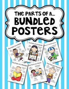 "On Sale Today:  ""The Parts of a..."" {Bundled Set 25 of Posters}  $7.20"