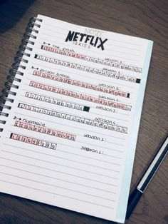 Netflix tracker for my bullet journal. At the moment I watch 3 series: the flash, prison break and Riverdale. But i've much more in My list