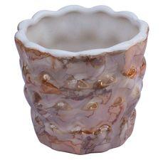 Bulk Wholesale Round Ceramic Planting Pot U2013 Hand Painted Colorful U0026  Metallic Copper Tone Accents Planter U2013 Outdoor / Garden / Patio Décor |  Pinterest ...
