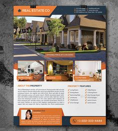 Free Real Estate Flyer PSD Template | Free Flyers | Pinterest | Real ...