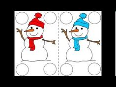 Six Little Snowmen Rhyme - Preschool Winter Theme -- Using Numbers -- Ed...