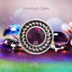 Amethyst Cable Dot from Style Dots! Style with me at https://suzanne.styledotshome.com