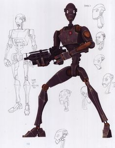 The BX-series droid commandos, were elite battle droid models made for stealth assignments.